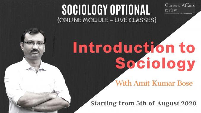 sociology-optional-modular Course
