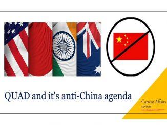 QUAD and it's anti-China agenda